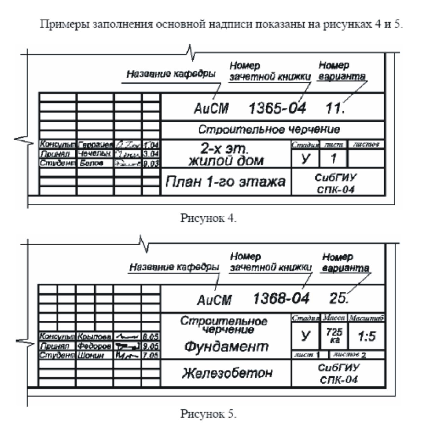 Основная надпись чертежа Геометрия Статьи Чертежи и d  название картинки
